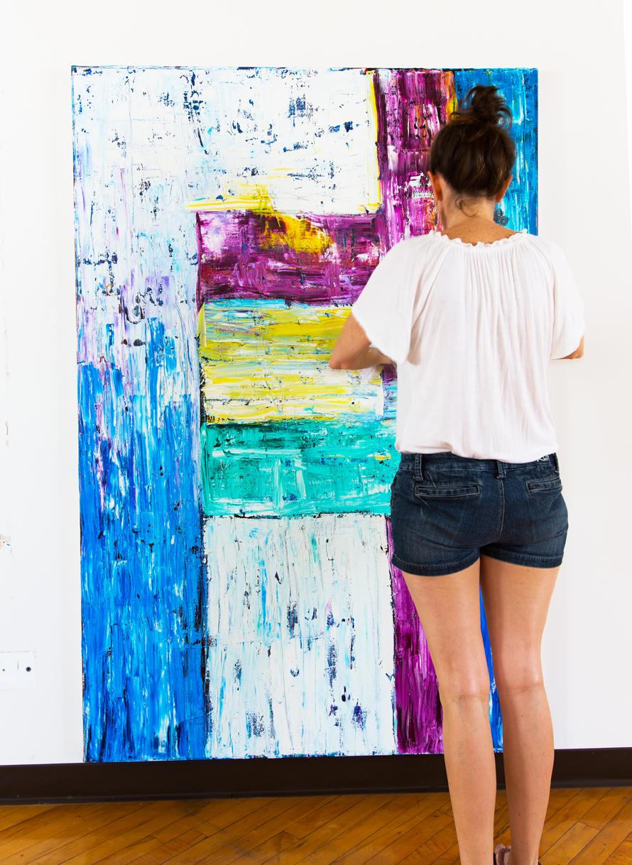 Jill Joy working on Doorway
