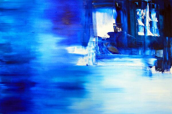 """Blue Sky, oil on canvas, 45x69"""""""