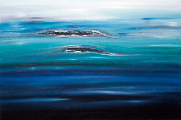 "Jill Joy - Islands - oil on canvas- 48x72"""