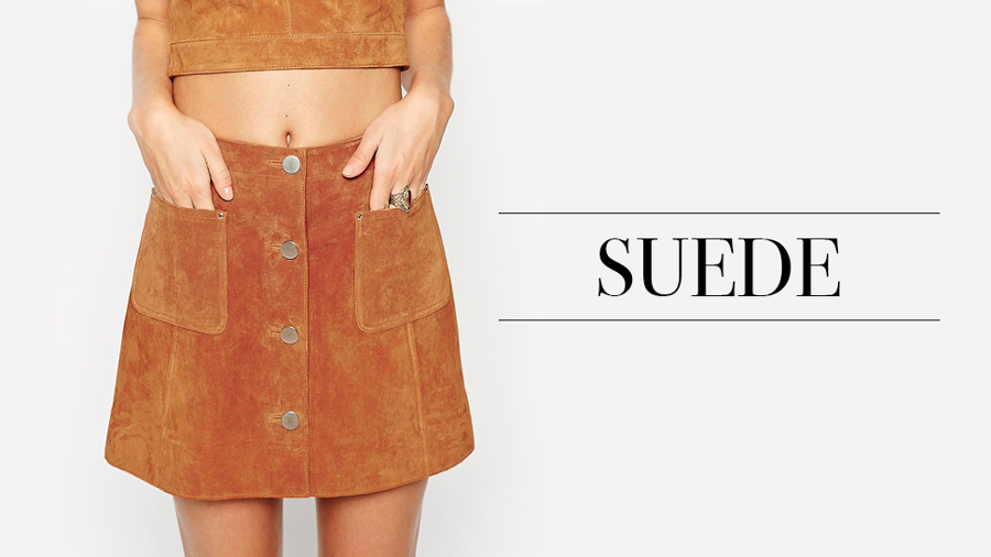Suede co-ord + image:    ASOS