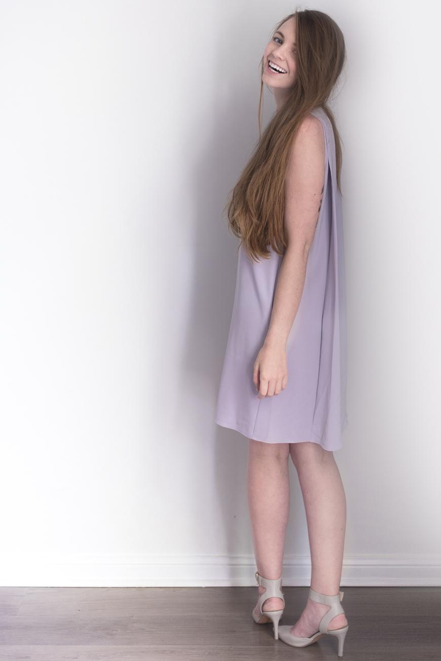 Dress:    Ann Taylor Trapeze Dress (added this summer)  |   Heels:   Nine West (spring)