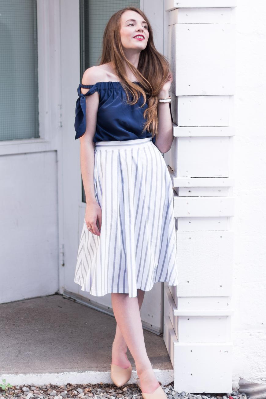 Top:    Club Monaco 'Nadina' Top (added this summer)  |   Skirt:    Zara  (added this summer)  |   Mules:    Calvin Klein 'Garnett' (added this summer)