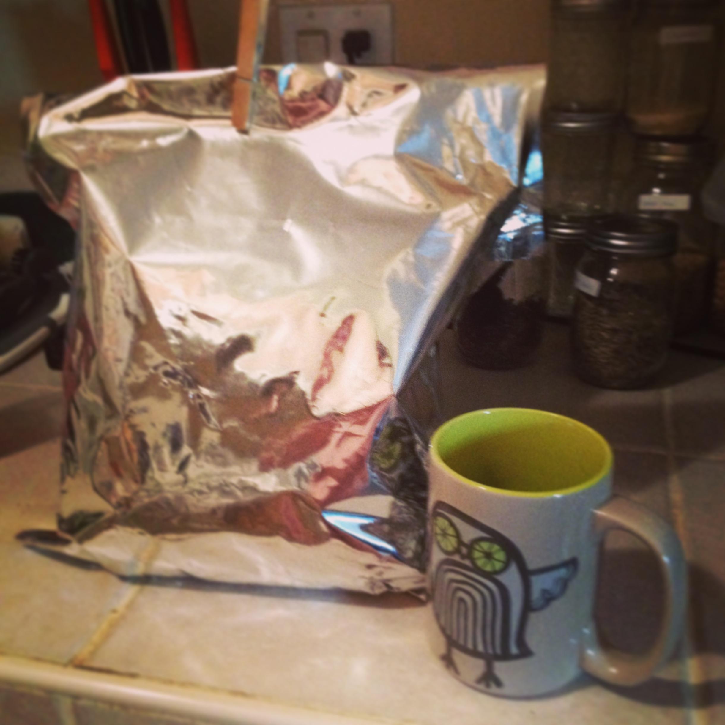 One huge bag of tea leaves!