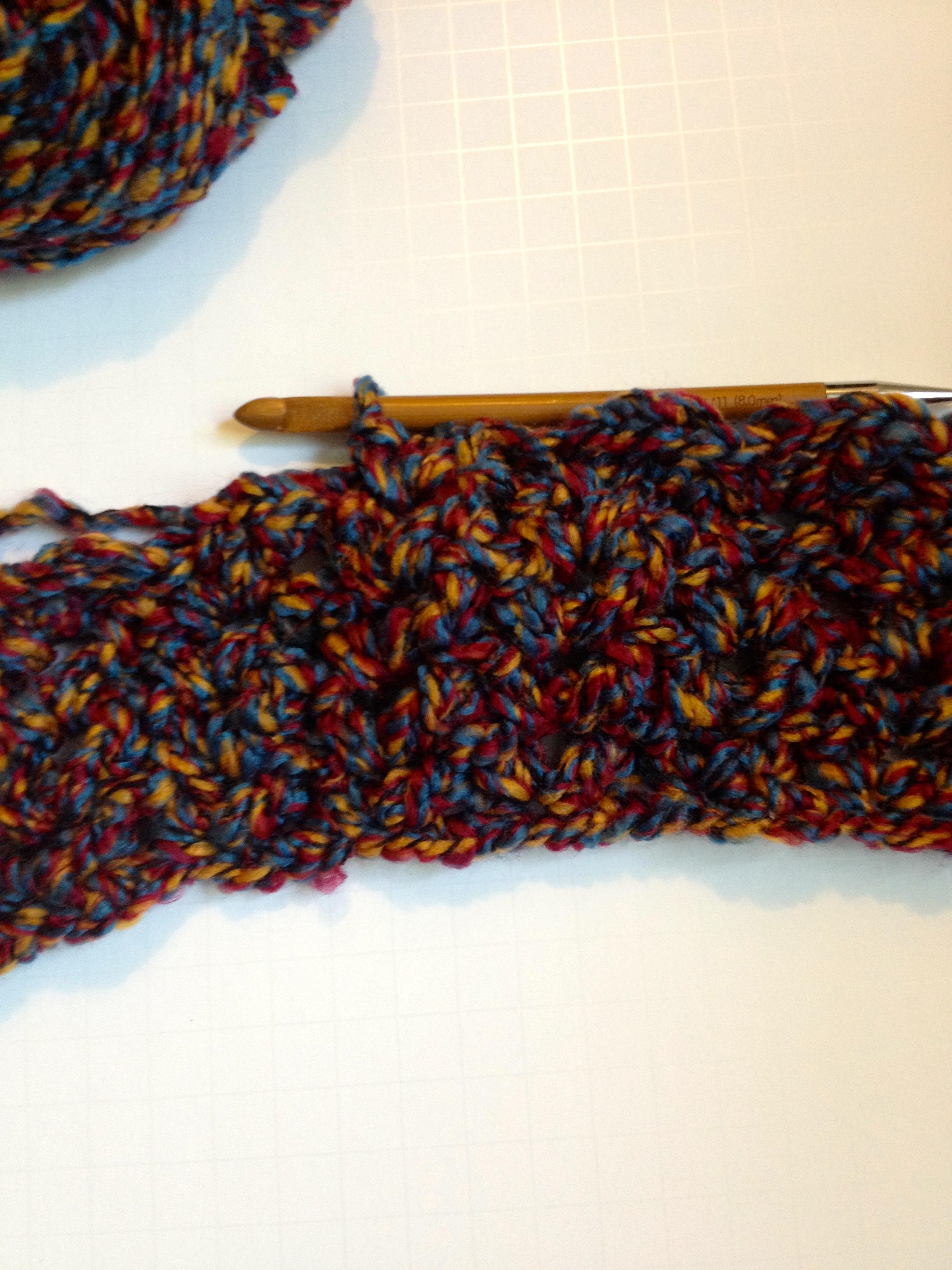 infinity scarf WIP