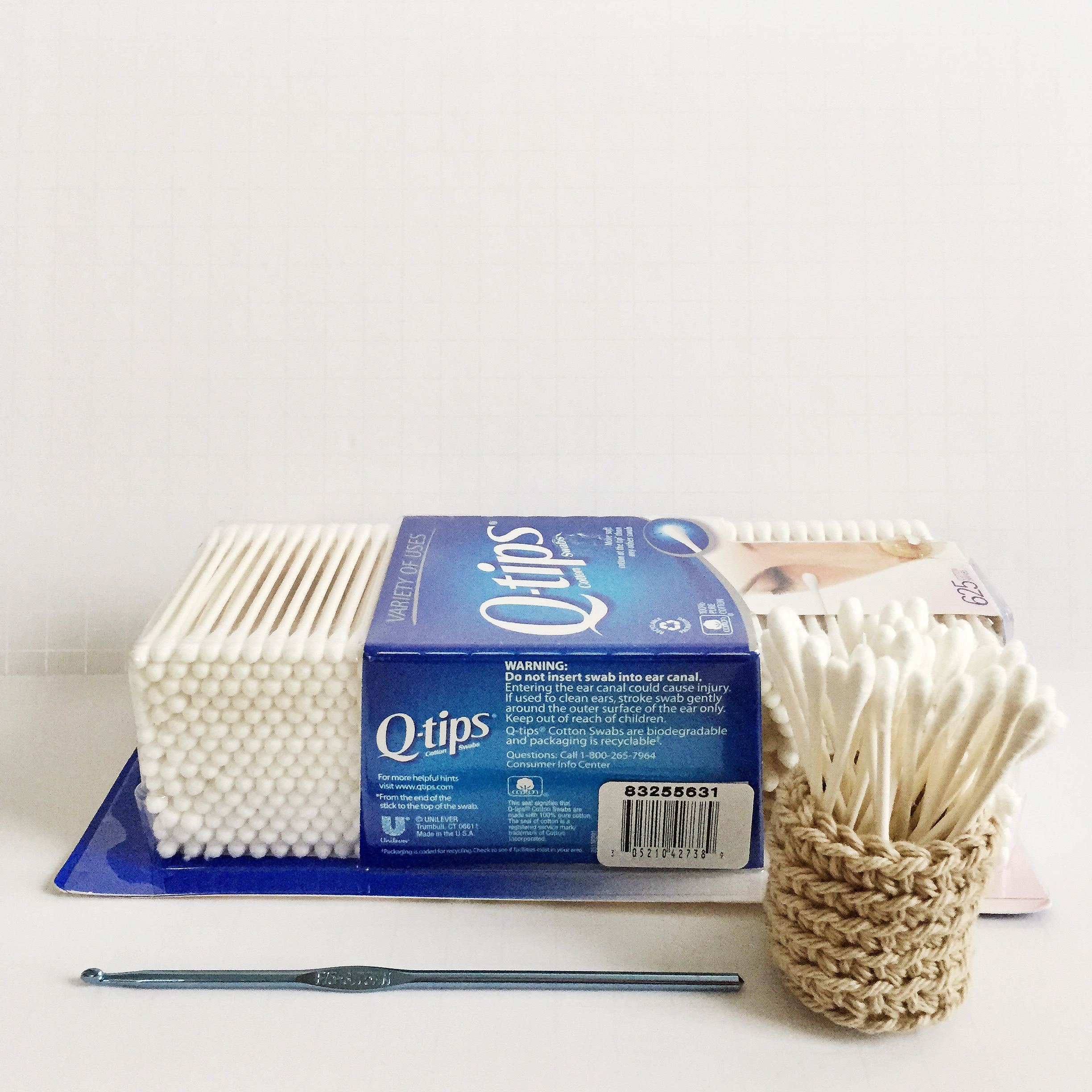 crochet q tip holder