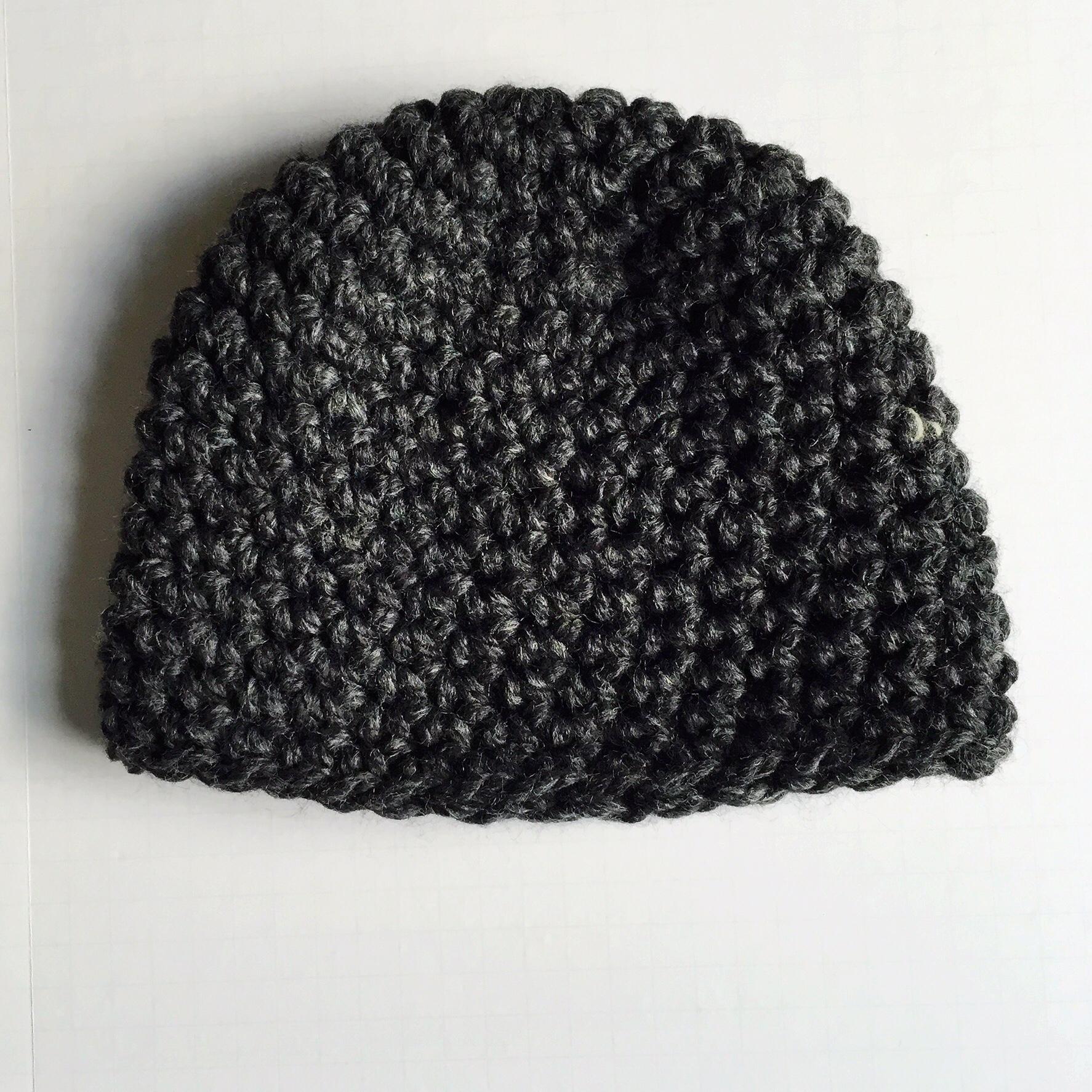 charcoal beanie crochet pattern