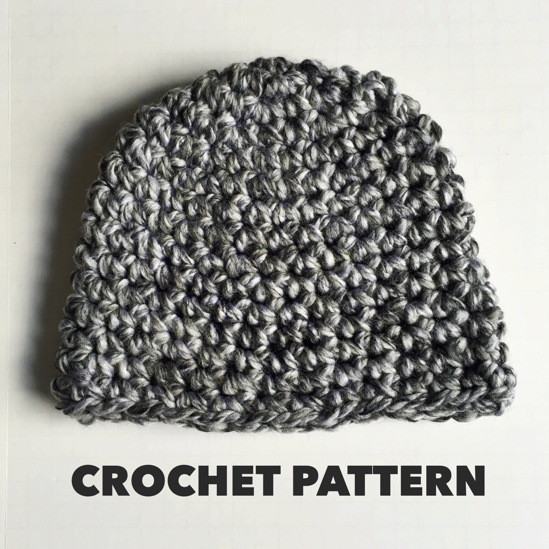 salt n pepper beanie crochet pattern