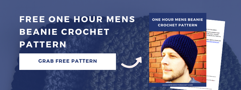 free one hour mens beanie crochet pattern