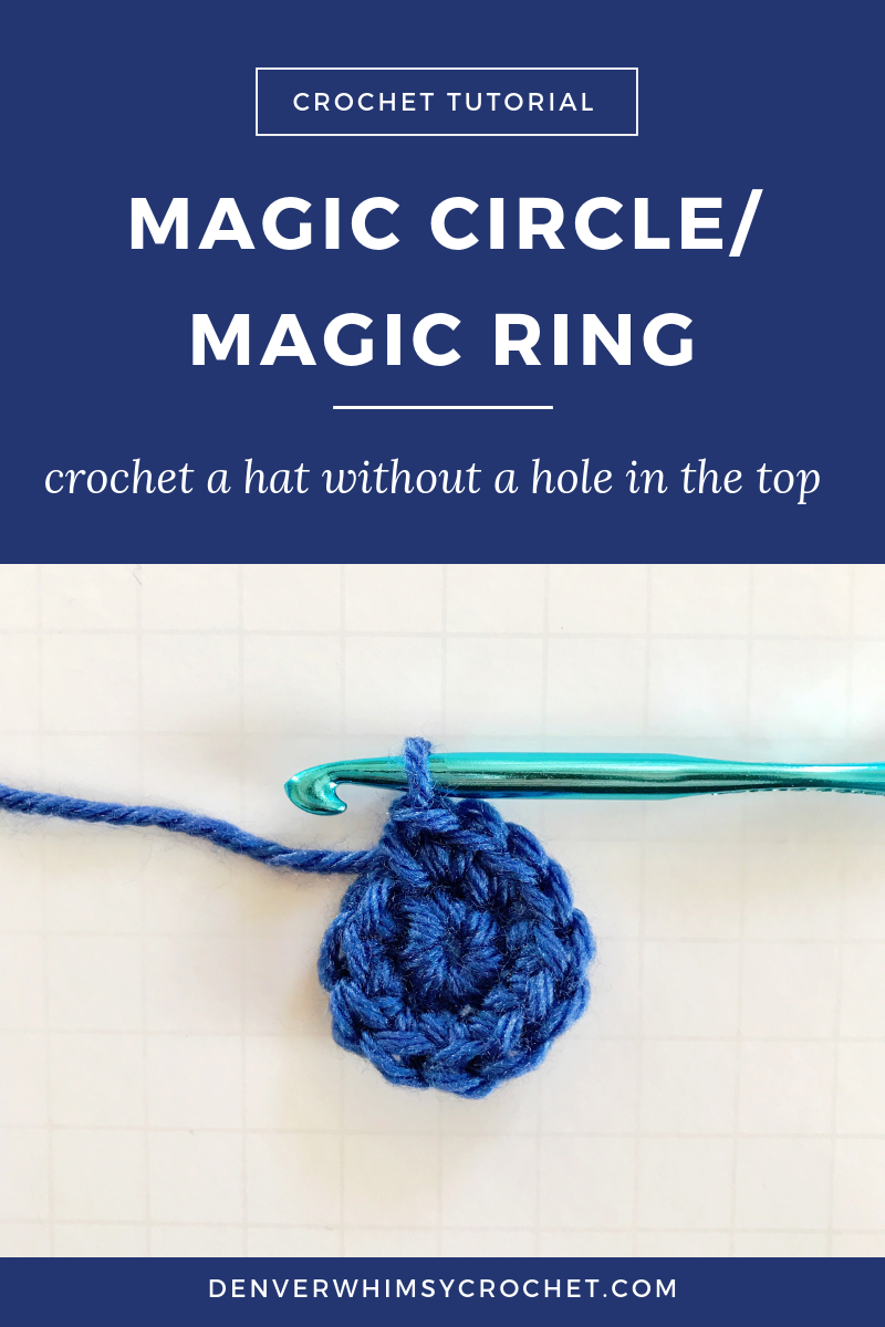 In this video tutorial, you'll learn how to start a beanie without making a hole in the top! It's called the magic circle or magic ring and it's awesome. Click through to watch this free crochet tutorial and download a free crochet beanie hat pattern! #crochettutorial #crochetpatterns #crochethat