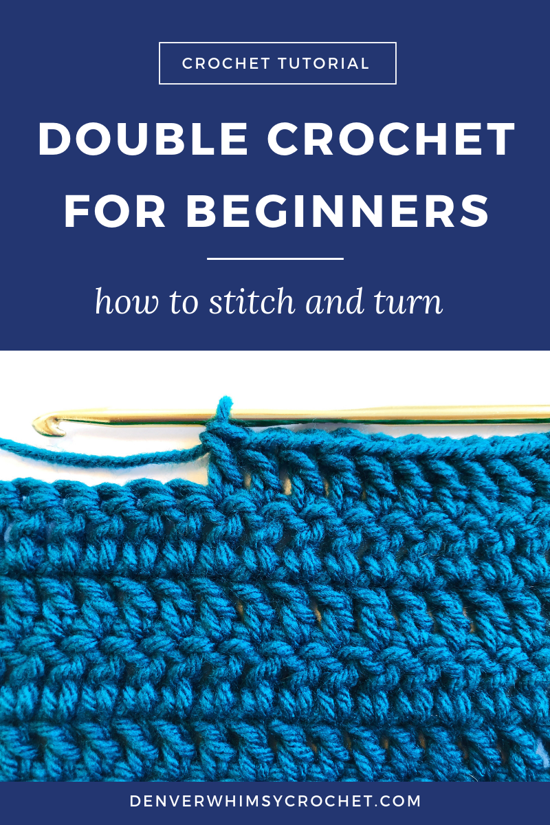 Double crochet is one of the most common stitches used in crochet, so it's time to learn how to do it! I actually don't make a lot of designs with double crochet (you'll see why in the video), but it's important to know how to do it so that you can do the more fun variations: front post double crochet, back post double crochet, seed stitch, basket weave stitch, etc. Click through to watch this crochet tutorial and learn how to double crochet for beginners! #crochet #doublecrochet #crochettutorial