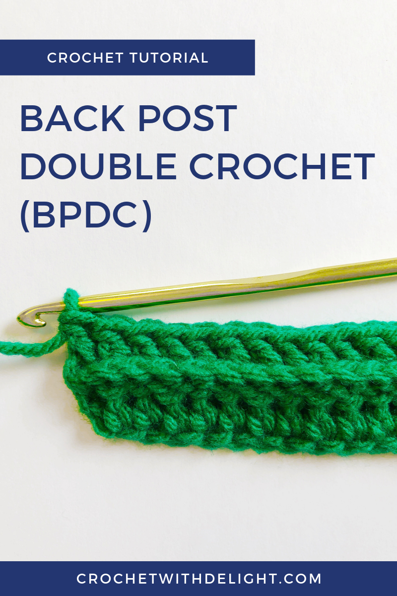 Let's learn how to Back Post Double Crochet aka BPDC! If you already know how to double crochet, then this croceht stitch is going to be pretty easy for you. You just have to learn how to position your stitch around the back post instead of in the top of the stitch below it. Click through to watch the crochet video tutorial and learn how to back post double crochet! #crochet #crocheting #crochettutorial