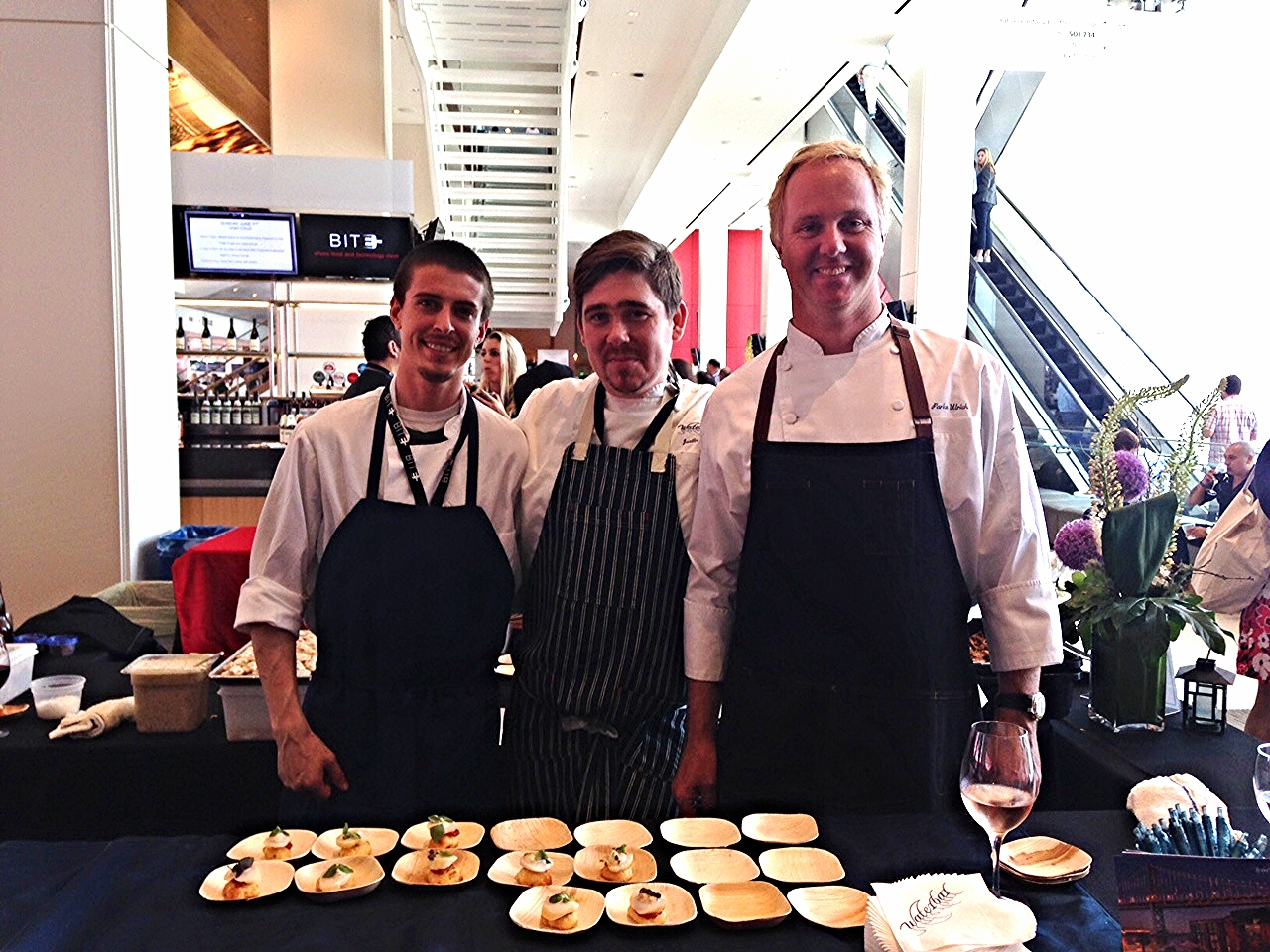 From right to left: Executive Chef Parke Ulrich, Chef de Cuisine Justin Baade and Zack Boyer.