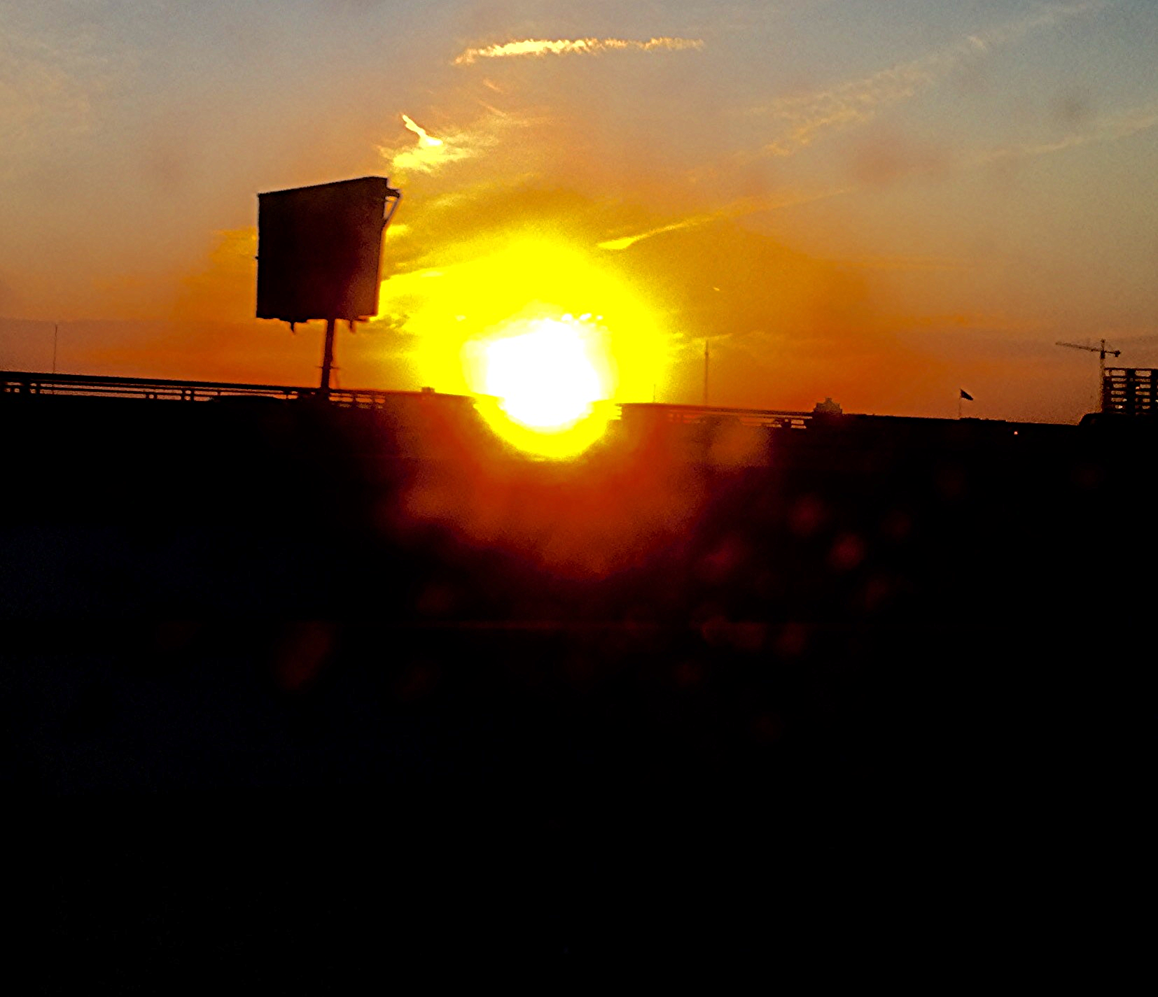 The sunrise on the drive to Del Rey, California