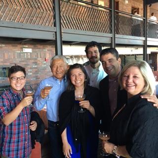 From left: Korio, Mas, Nikiko, Eric Hyman, Rich Troiani and Marcy Masumoto.