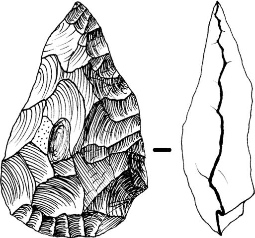 Paleolithic handaxe. Image: José-Manuel Benito