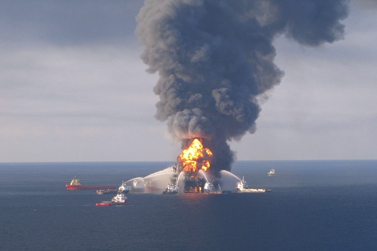 Deepwater Horizon April 21, 2010. Image: United States Coast Guard