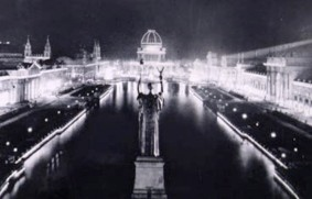 Columbian Exposition in Chicago, 1893 - the dawn of the age of light. Image: PBS.org
