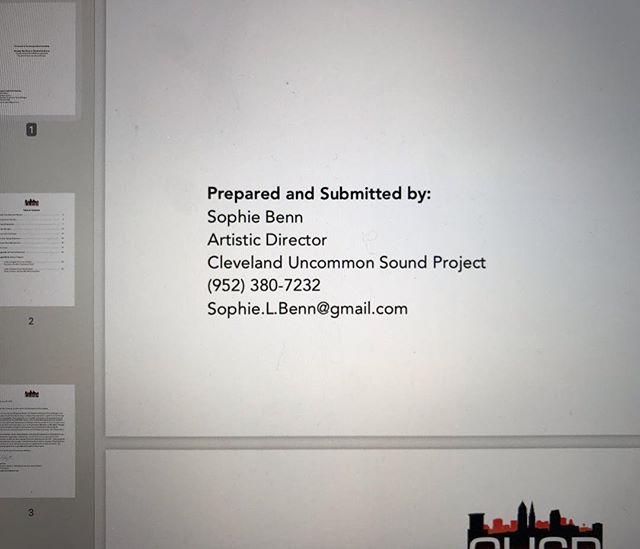 Yesterday, I submitted the first grant application that I wrote mostly by myself, from scratch. Even though this particular grant is the longest of long shots, I'm really proud of the work that I did on this, and how I've represented our lil' organization. I'm choosing to celebrate the process, not just the success. #nonprofitlife #music #newmusic #cusp #nonprofit #nonprofitorganization