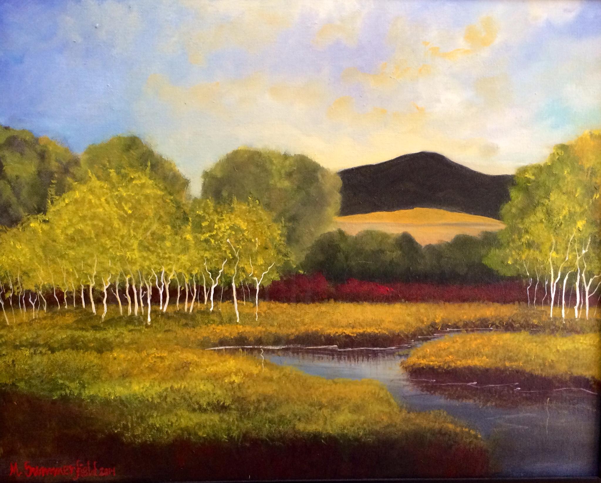 Autumn on the East Gallatin 16x20 2014 Reach Inc. Have a Heart Art Auction Donation 2015