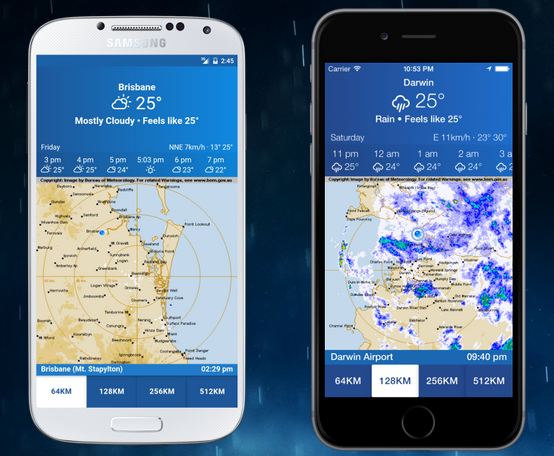AUS Rain Radar iOS and Android