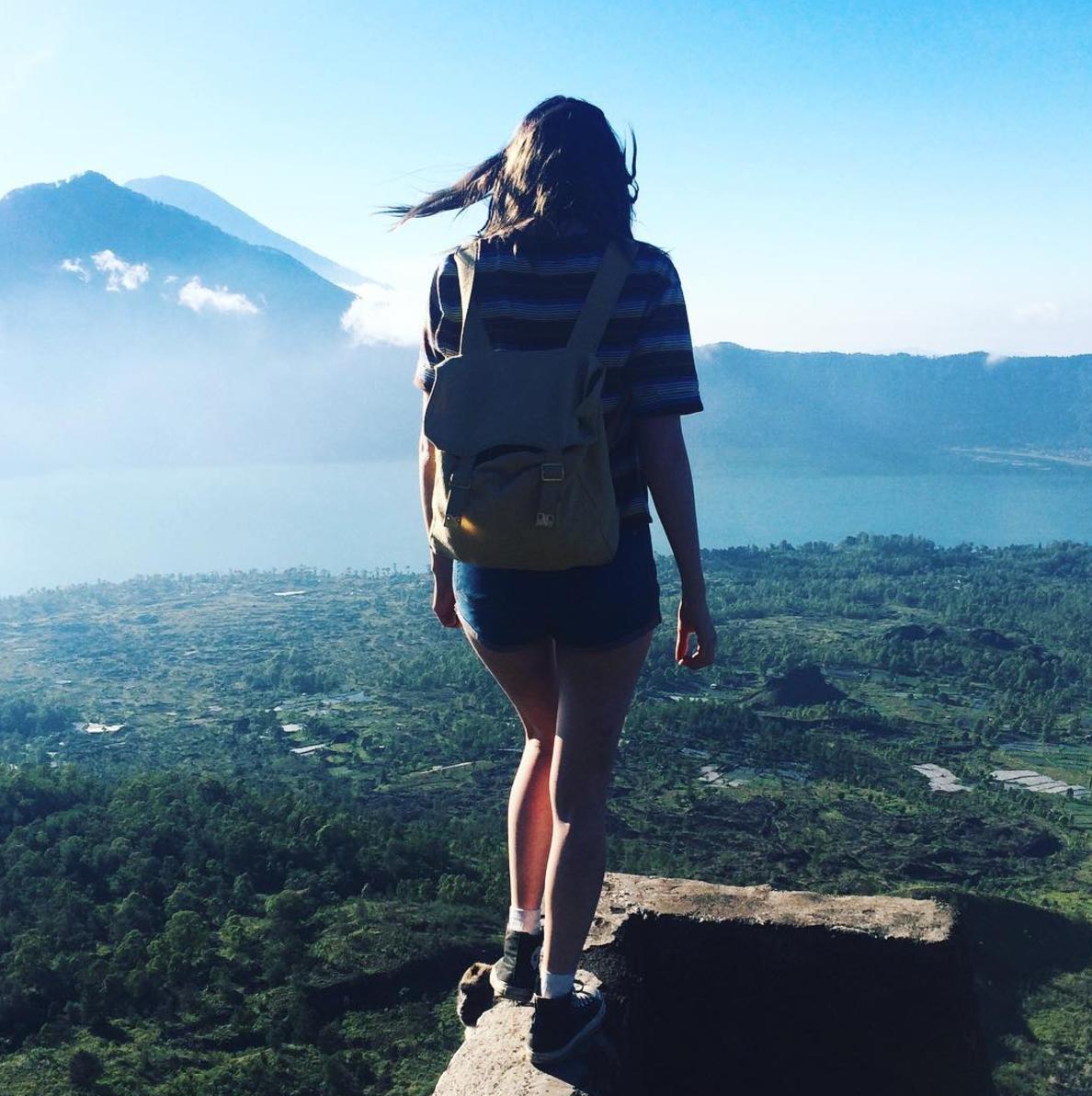 On top of Mount Batur Volcano, Bali