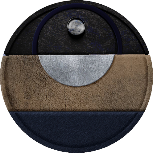 MODERN SAFARI takes inspiration from textures of rugged terrain, applied in a custom print and the leather grain. Exterior paint has depths of color from layers of blue tinted gloss on black. -