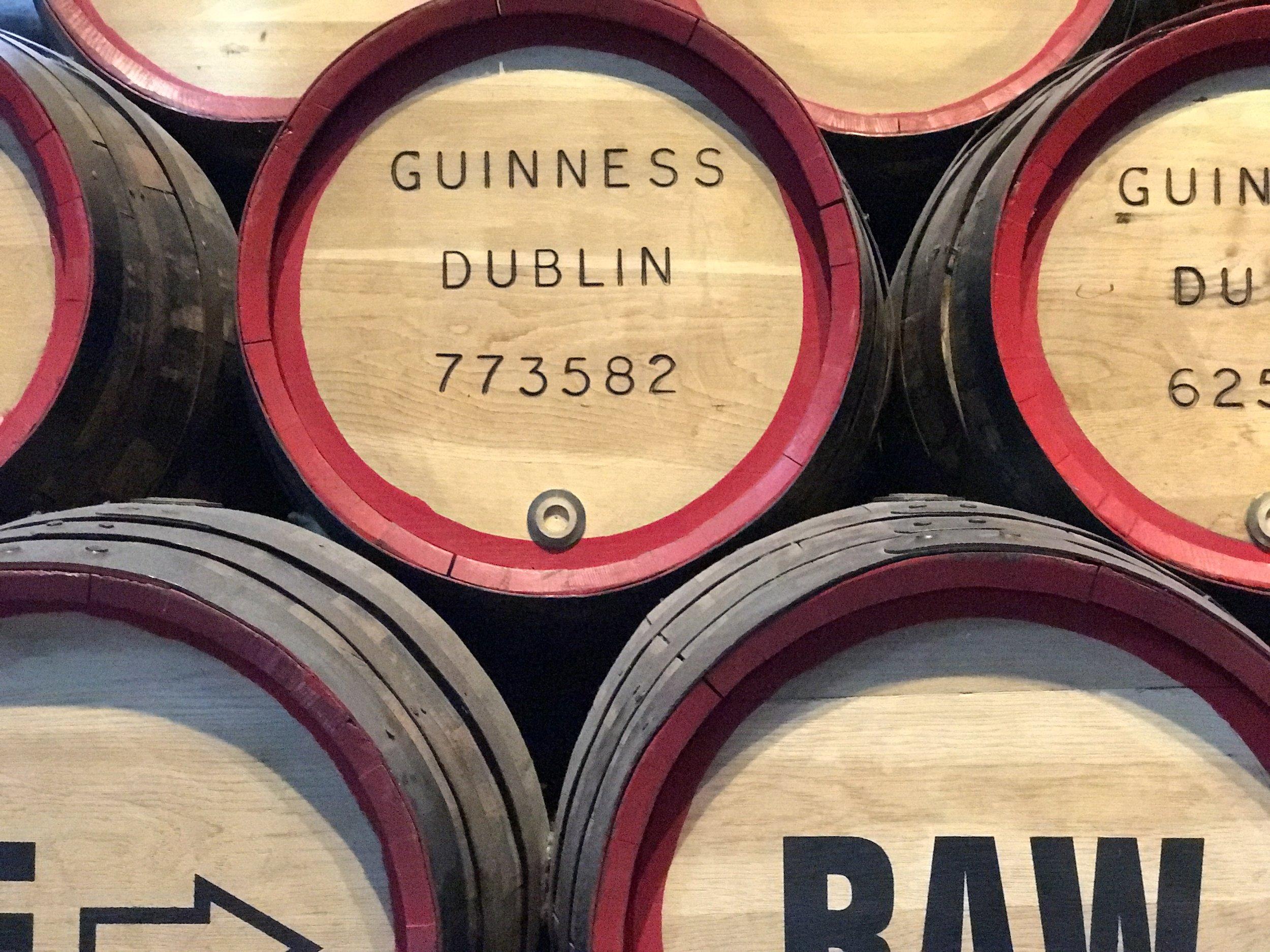 Guinness brewery tour, Dublin.