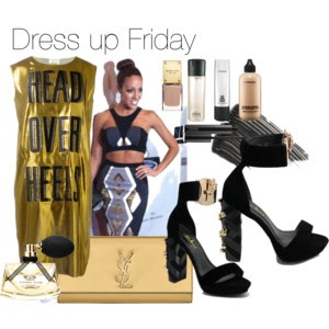 Use Lanvin, Celeb Boutique, YSL for your Friday outfit inspiration