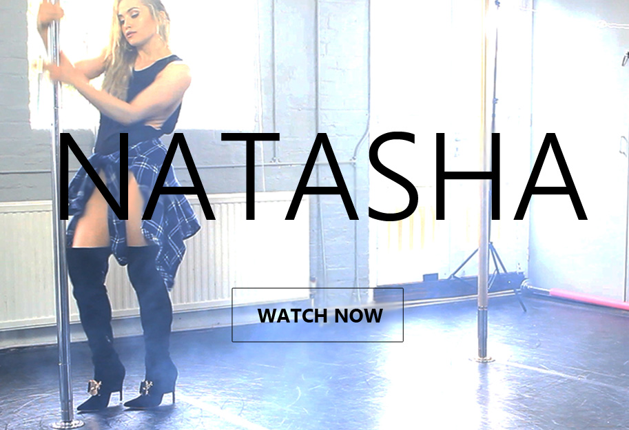 Watch Natasha dance wearing over knee boots