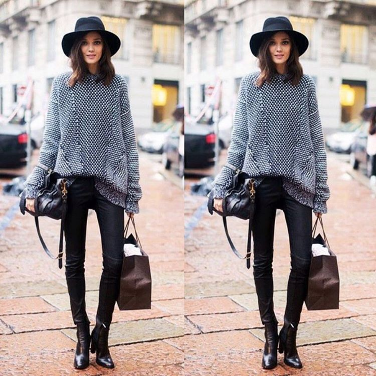 Here's a liitle outfit inspiration to wear with a pair of  Black Ankle Boots .