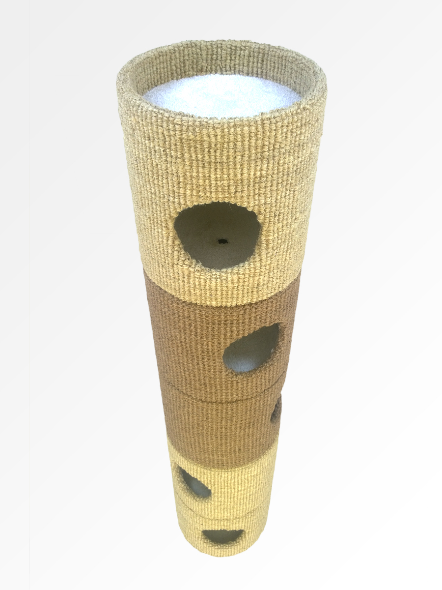 Catapilla™ finished in Bleached & Natural Coir with White Twist Pile internals