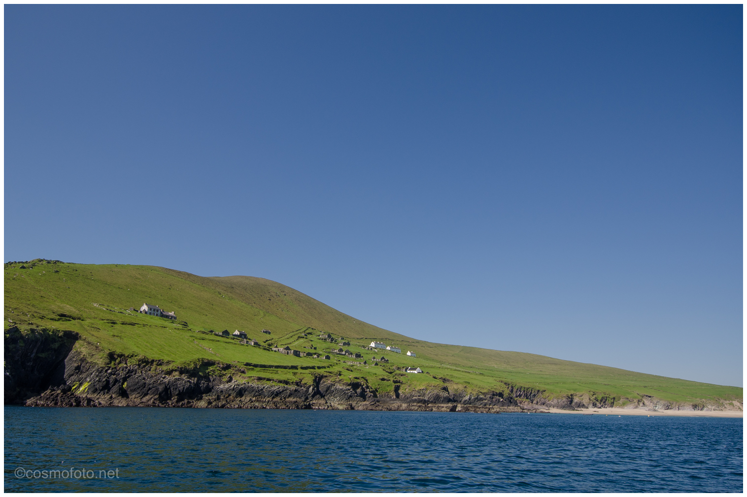 Great Blasket with the abandoned village