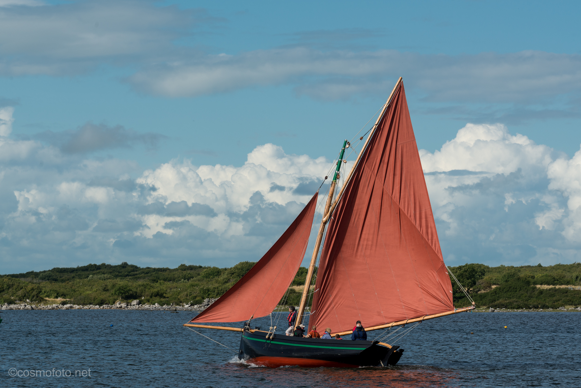 Red sails, the trademark of a Galway hooker