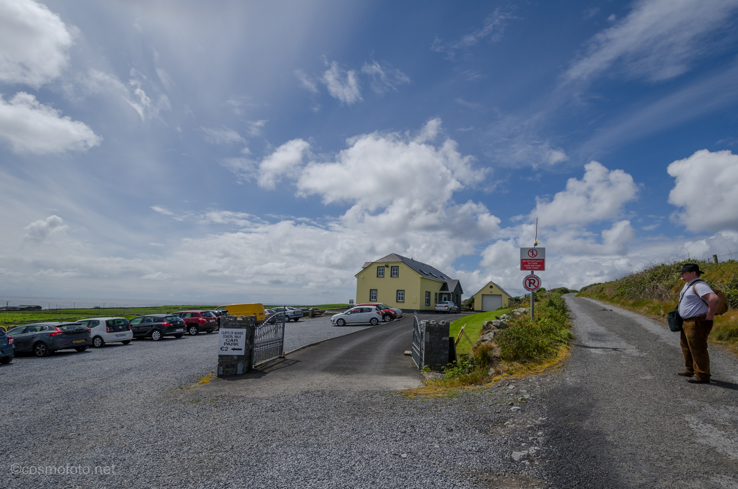 Pat Nagle's car park, about 0.5km from the trail head