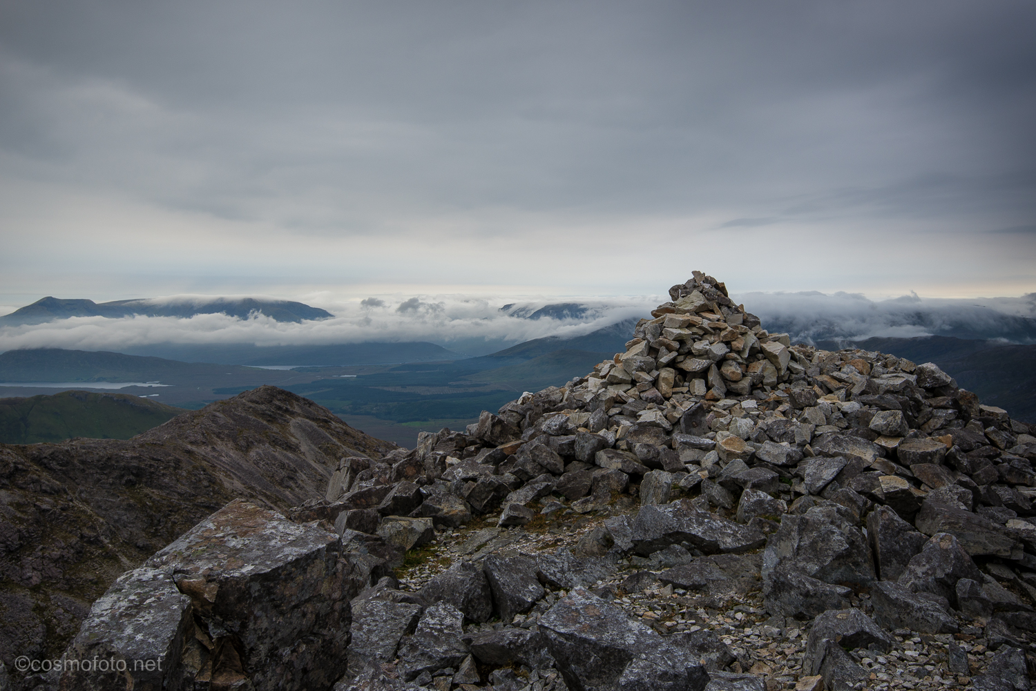 Finally, the cairn on top of Benbaum