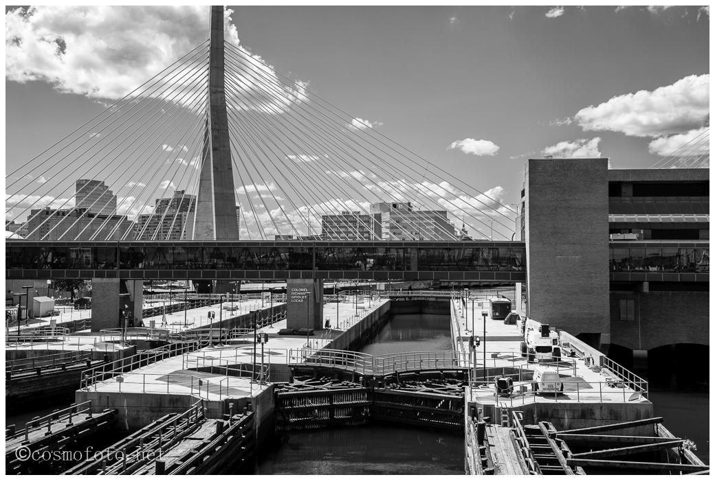 Bridge on the Freedom Trail in Boston