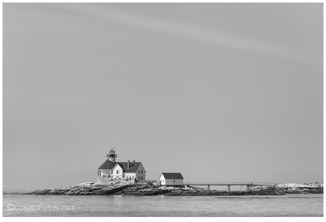 The lighthouse at the entrance of Boothbay Harbour, Maine.