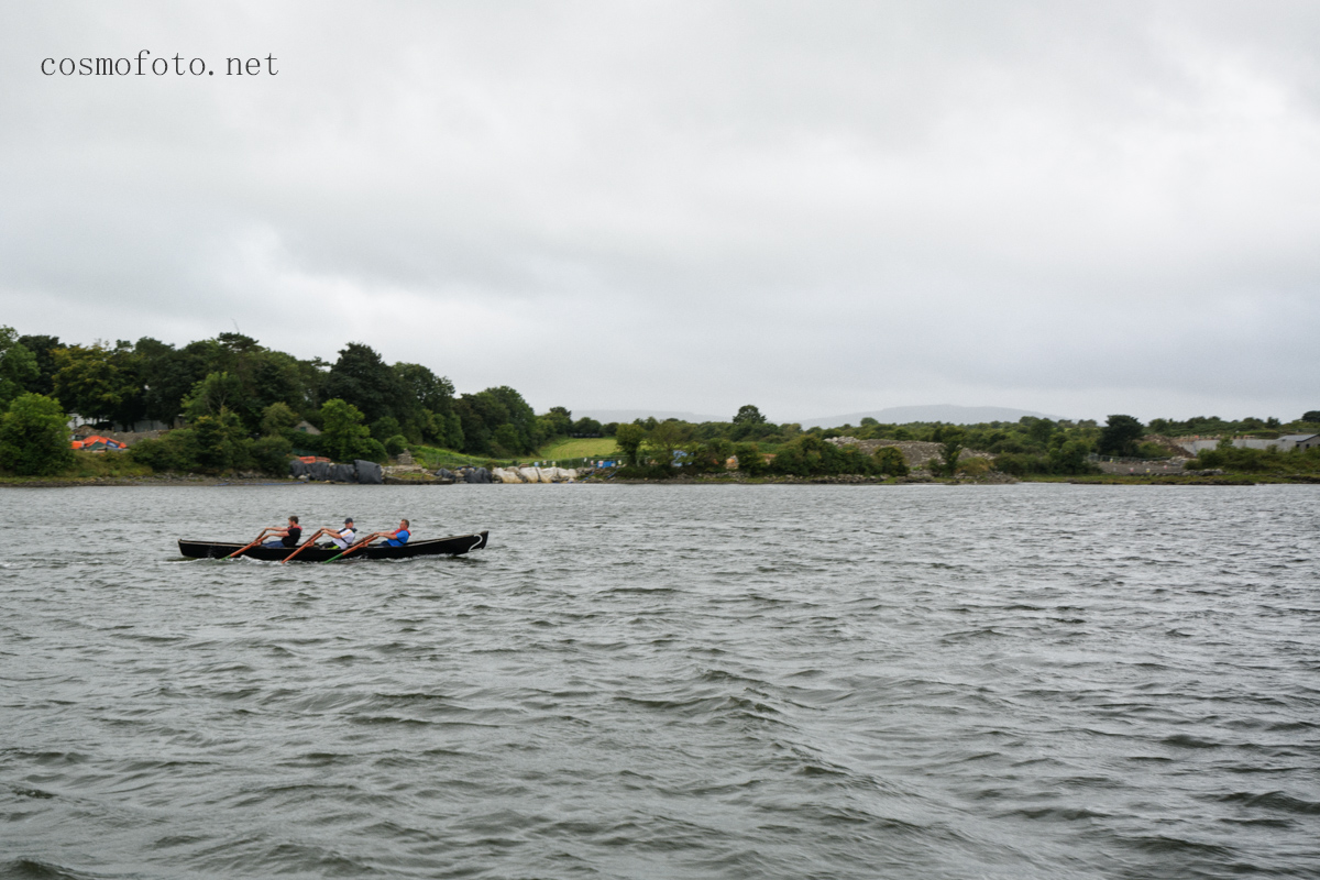 Sailing into the harbour, we met those guys practising for the curragh race. You heard what the O'Donovan's said lads...just close your eyes and pull like a dog!