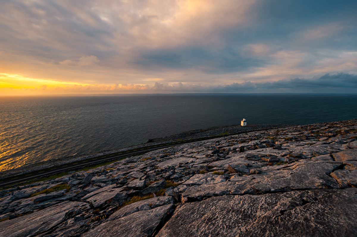 Blackhead Lighthouse overlooking Galway Bay