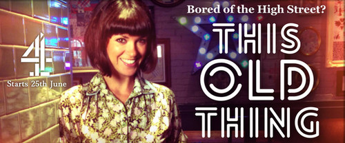 I was one of 4 expert seamstresses used on the show 'This Old Thing',making alterations to garments brought in by members of the public. It was a6 part series on Channel 4 and I worked alongside Dawn O'Porter, as shown below.  Check out some of the tutorial videos we made  here .
