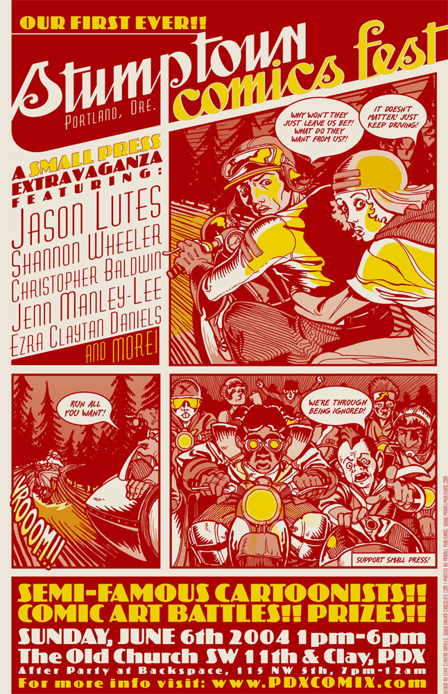 Stumptown Comics Fest poster art