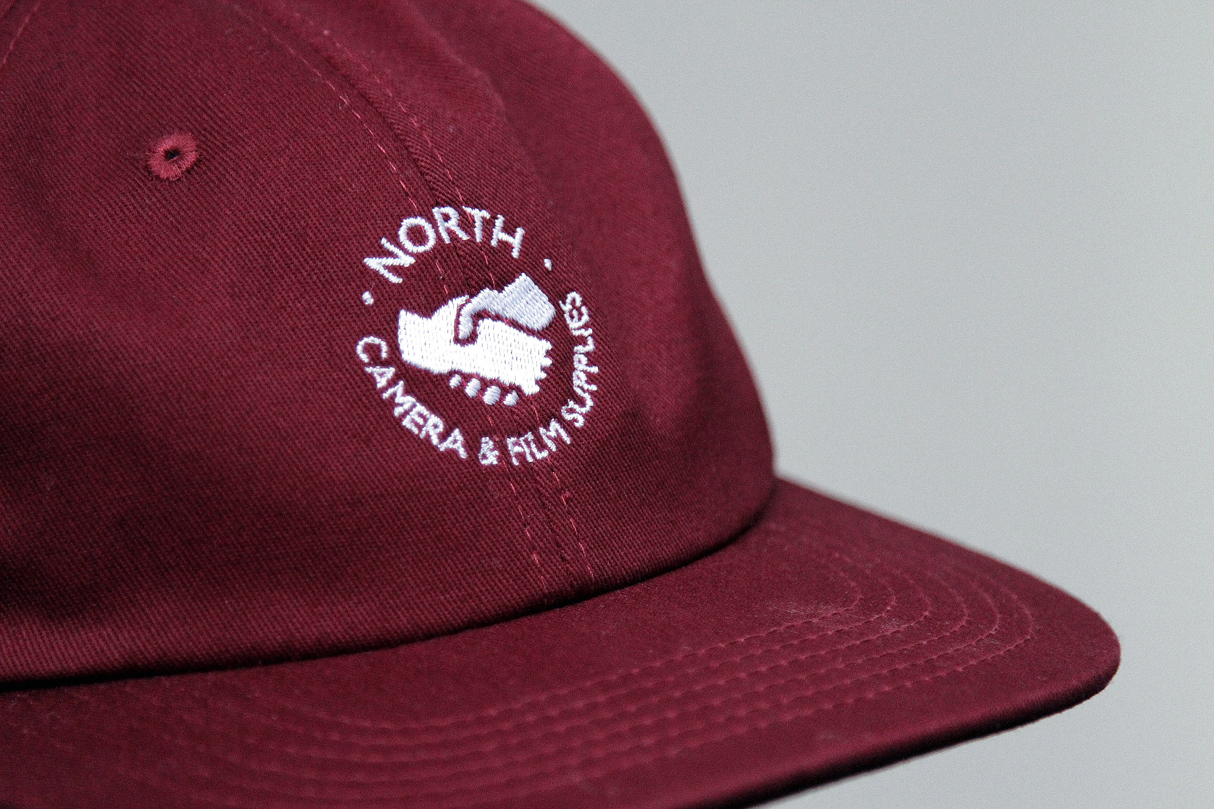 Supplies Logo Burgundy 6 Panel Cap 3.JPG