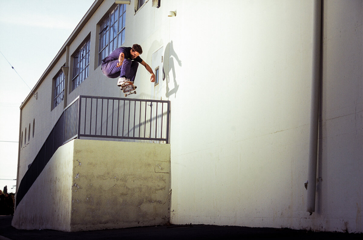 One of the last magazine features I did was an interview with Corey Glick for The Berrics mag, and during those shoots lots of Tum Yeto bros would be out ripping alongside Corey. Blake Carpenter was one of them and this ollie in Los Angeles was XL!