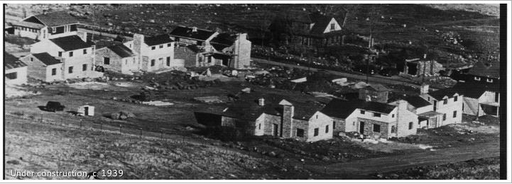 Floral Park under construction, 1939 ( Photo credit: Floral Park Historic District )