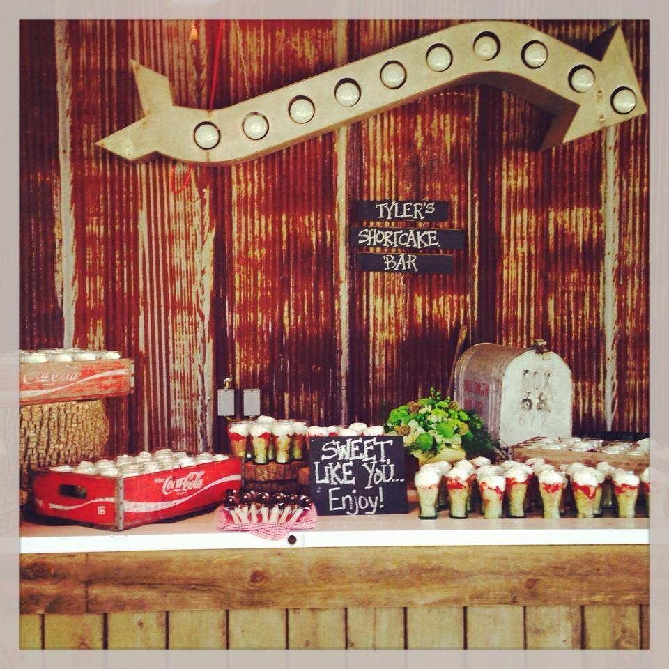 Cute strawberry shortcake bar at  Jaclynn and Tyler's wedding  at The Barn! Photo from  The Barn's Instagram