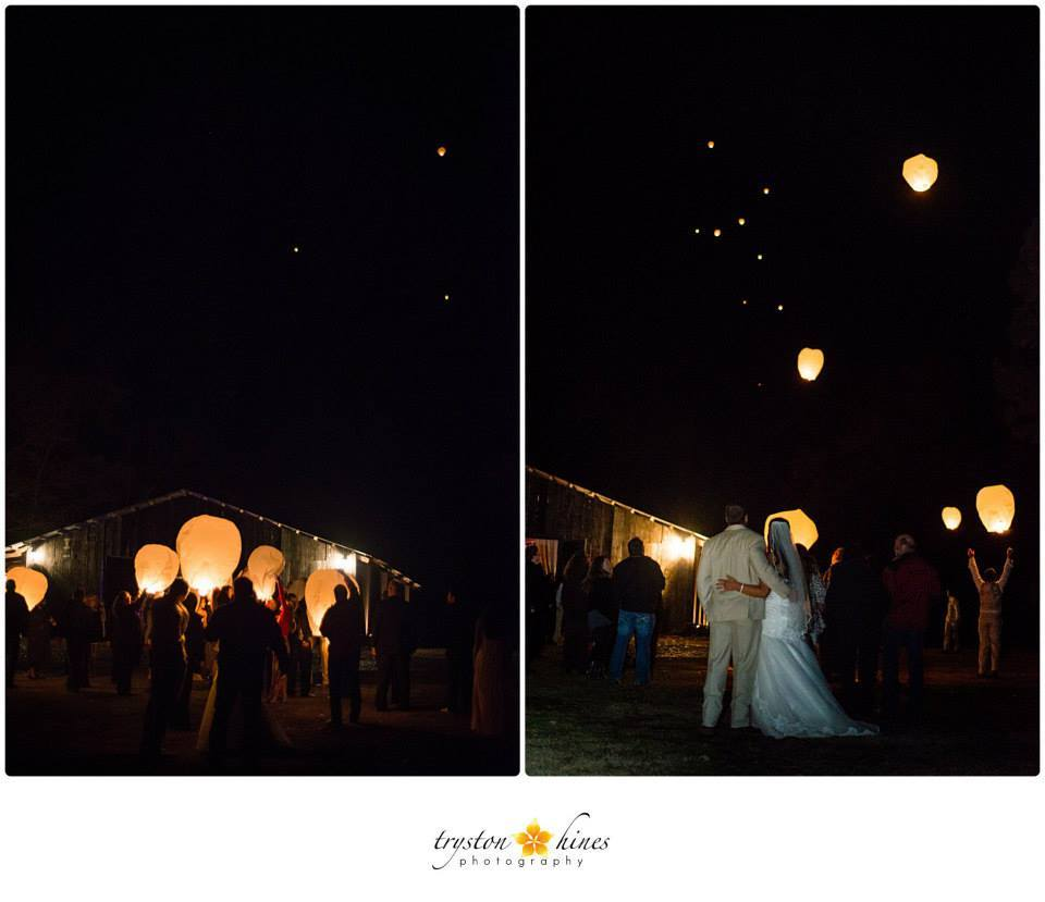 Tryston HInes Photography , from  Samantha + Dalton 's pink and gold fall wedding at The Barn