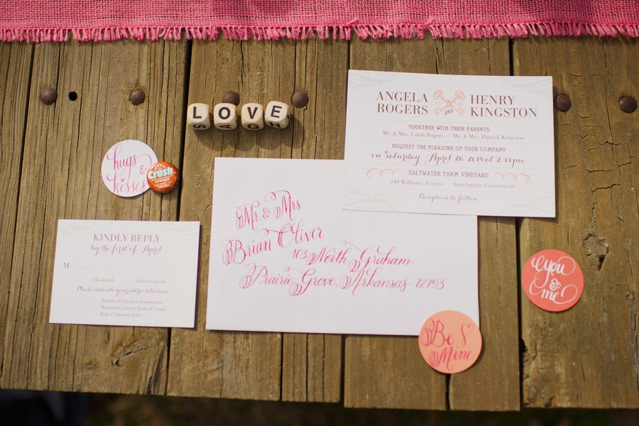 Melissa McCrotty Photography , from our  Hot Pink Kisses Styled Shoot  at The Barn