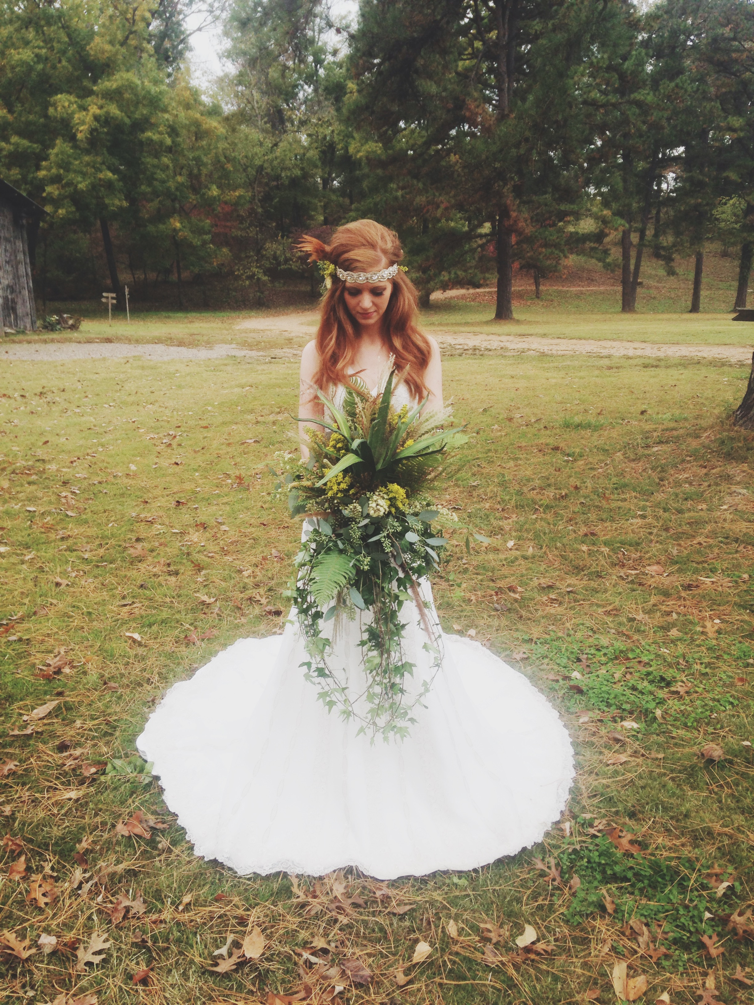Our dresses for the shoot were from  Formal Affairs , and they were stunning. The bouquet, headpieces and all flower arrangements were made by our fabulous floral designer, Ginger.