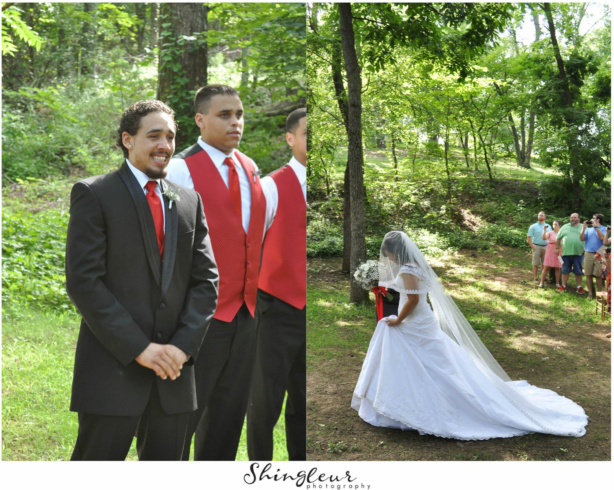 Shingleur Photography . That's a happy groom, y'all! So sweet.