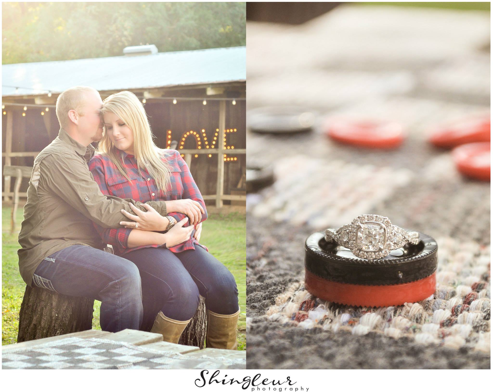 From  Misti + Robert 's precious engagement session.